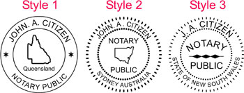 Folding Notary Seal Stamp