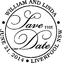 Save The Date Wedding Rubber Stamp 2