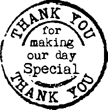 Thank You Wedding Rubber Stamp 3