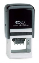 Colop Q43 Dater Square Shape Adjustable Date Self Inking Rubber Stamp 43mm Square