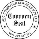 Common seal rubber stamps strata seal rubber stamps for Common seal template