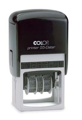 Colop Adjustable Date Stamp Self Inking Rubber Stamp 60mm