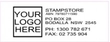 Logo Address Stamp with Name ABN Address and Two Phone Number (Self Inking)