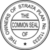 Strata Seal self inking 40mm Style 1