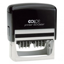 Colop P60 Dater Dual Adjustable Number and Number Stamp Self Inking 77mm x 38mm