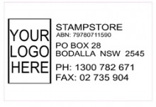 Large Logo Address Stamp with Name ABN Address and Two Phone Number (Self Inking)