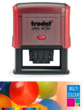 Multicolour Trodat Printy 4726 Dater Self Inking Rubber Stamp 75mm x 38mm