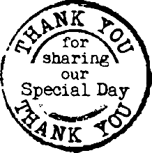 Thank You Wedding Rubber Stamp 2