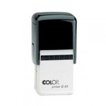 Colop Q43 Square Self Inking Rubber Stamp 43mm x 43mm