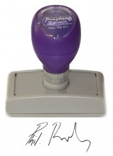 Signature Stamp Pre Inked Self Inking Stamp Standard Size