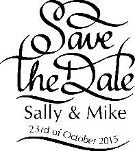 Save The Date Wedding Rubber Stamp 1