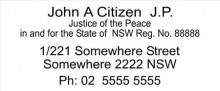 JP Stamp NSW, VIC, ACT, TAS. - JP Address Stamp