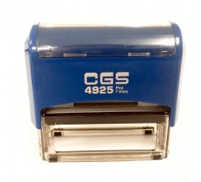 CGS 4925 Self Inking Rubber Stamp  82mm x 25mm