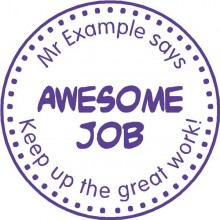 Personalised Teacher Stamp Awesome Job