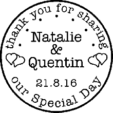 Thank You Wedding Rubber Stamp 1