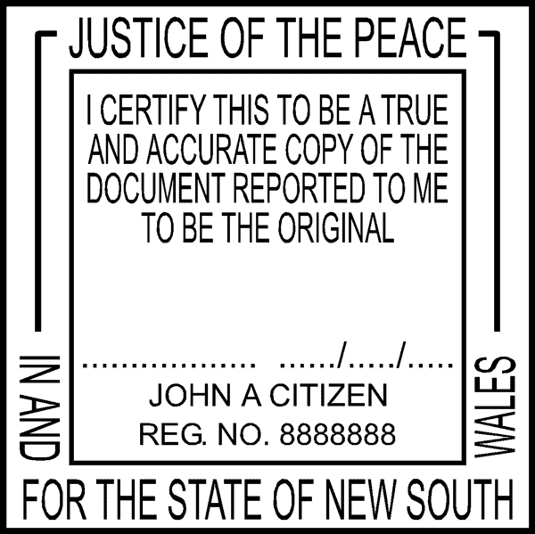 Jp Style S Justice Of The Peace Certification Self Inking