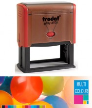Multicolour Trodat Printy 4931 Self Inking Rubber Stamp 70mm x 30mm