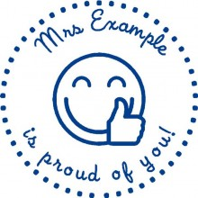 Personalised Teacher Stamp Proud of you