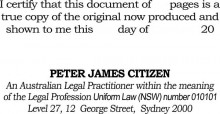 Certification Stamp An Australian Legal Practioner within the meaning........