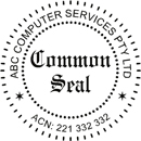 Common Seal self inking 55mm Style 3