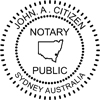 Notary Seal self inking 40mm Style 1