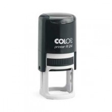 Colop R24 Round Self Inking Rubber Stamp 24mm diameter