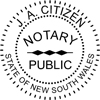 Notary Seal self inking 40mm Style 3
