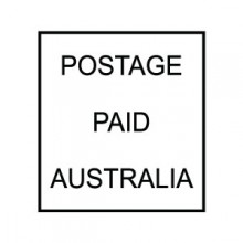 Stock Text Stamp Postage paid Australia