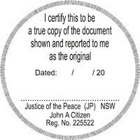 JP9 Round Certification Stamp