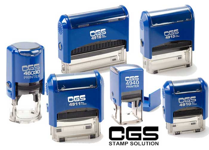 CGS Self inking rubber stamps