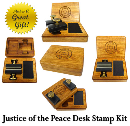 Justice of the Peace Desk Kit - Gift set