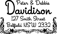 Return Address Stamp Style 2