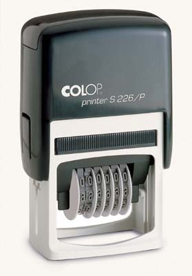 Colop Adjustable Number Stamp Self Inking Rubber Stamp