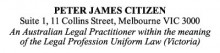 Legal Stamp - Uniform Law Victoria